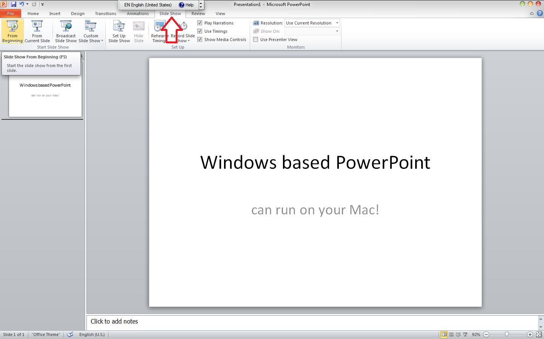 Powerpoint Slideshow Not Working On Mac