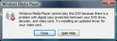 "... cannot play this DVD"" error while trying to play DVD in Windows VM"