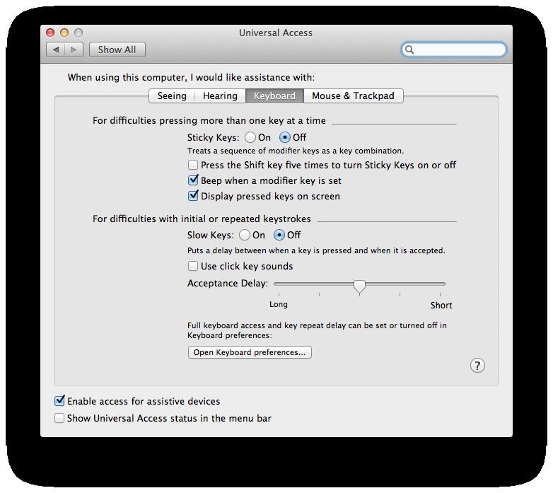 mac wireless keyboard instructions