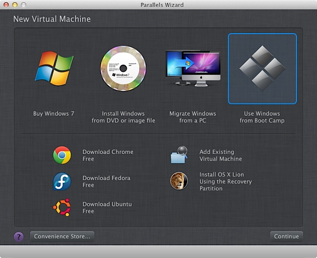 commenter l'installateur windows sur mac