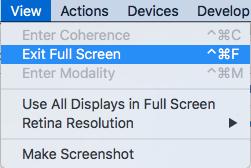 Full Screen view mode in Parallels Desktop for Mac