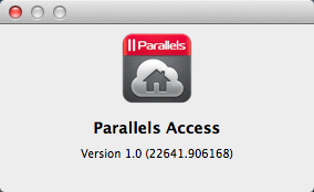 About Parallels Access window on a PC