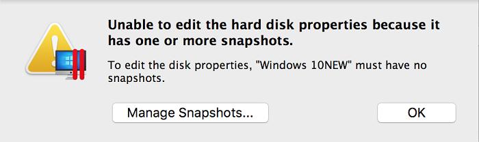 Windows snapshots parallels