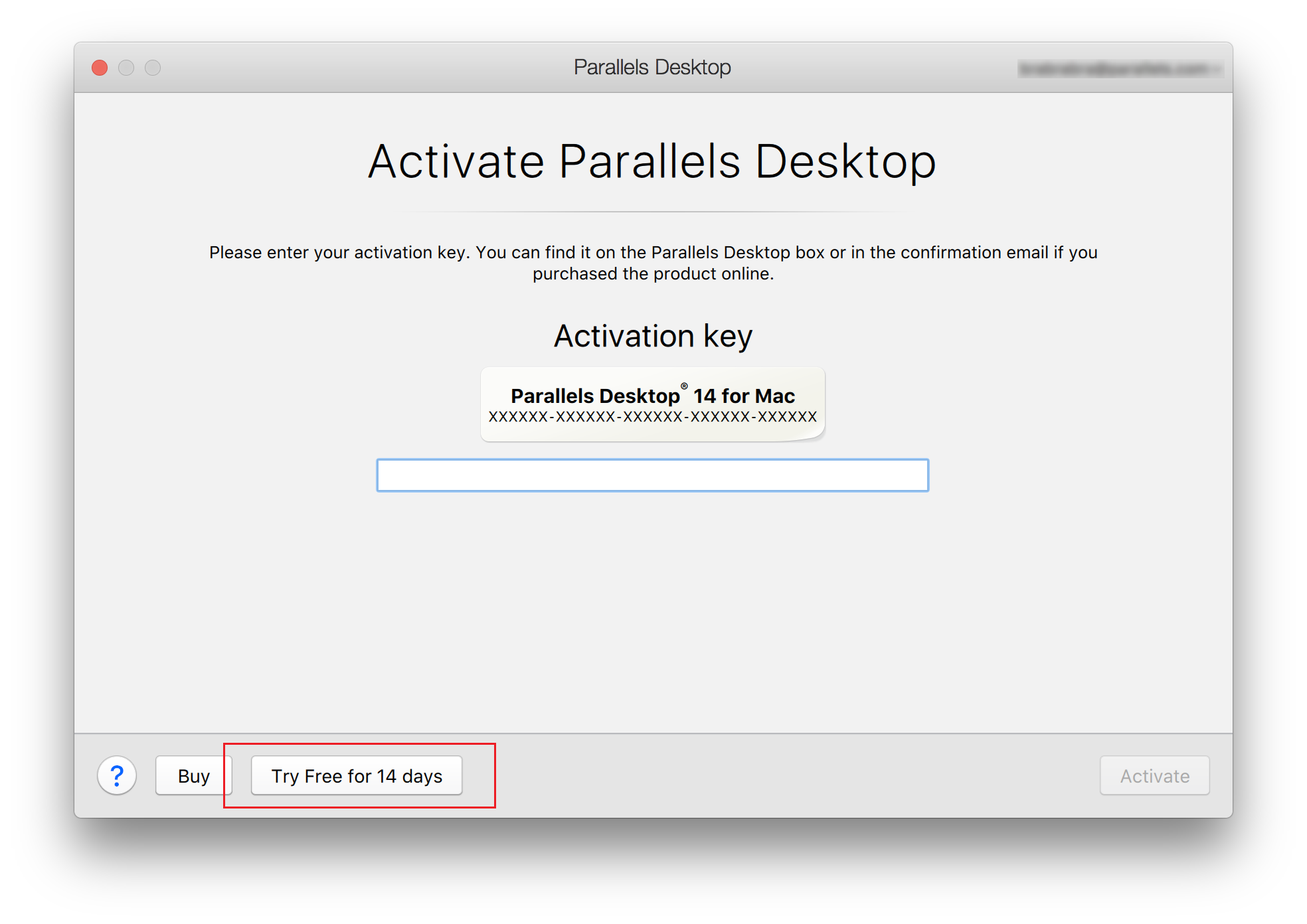 parallels 14 activation key free