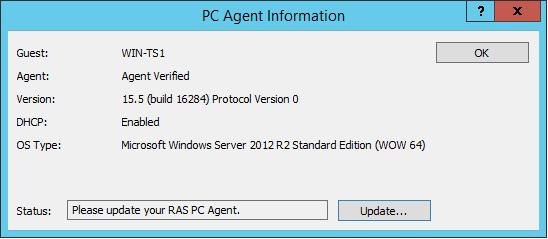 Remote PC Agent status check