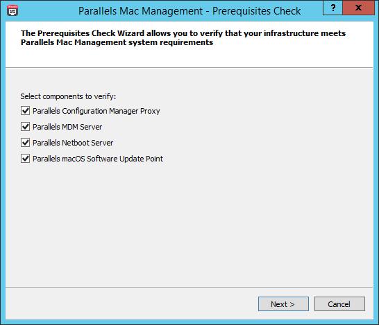 Parallels Mac Management Prerequisites Checker