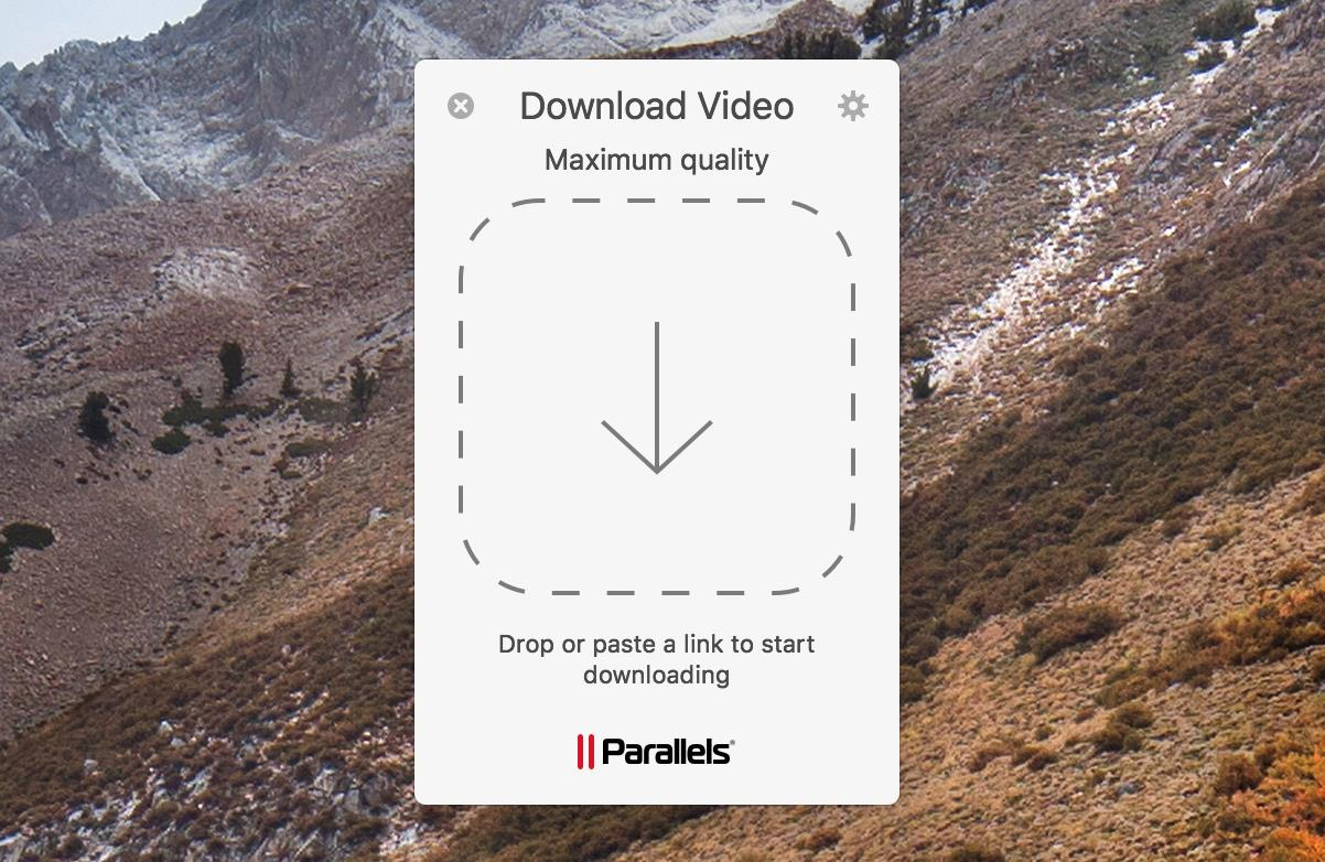 Download video starting screen