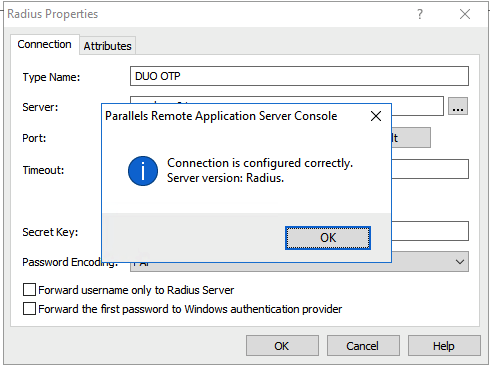 How to configure Parallels RAS with DUO Radius