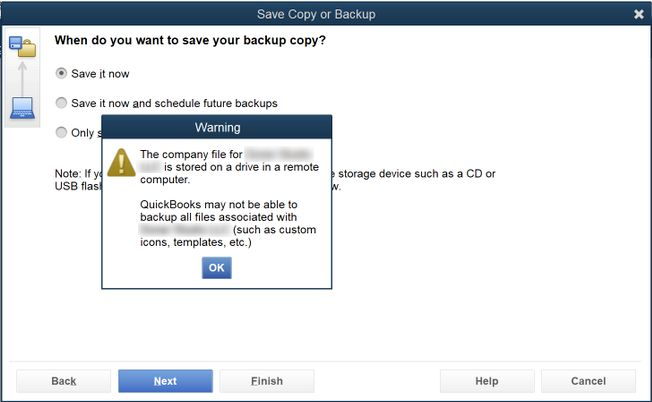Kb Parallels Warning Pop Ups When Backing Up Files In Quickbooks