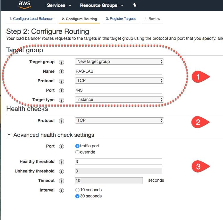 Parallels RAS Front-End Load Balancing using AWS Elastic Load