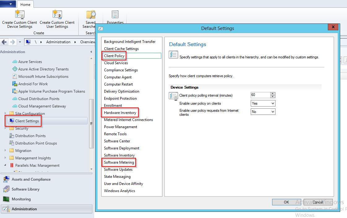What SCCM Client Settings affect PMM Client?