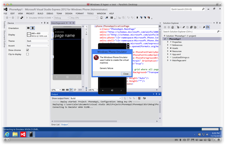 windows phone 8 gba emulator