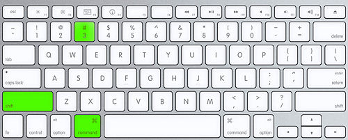 Screenshot on mac keyboard