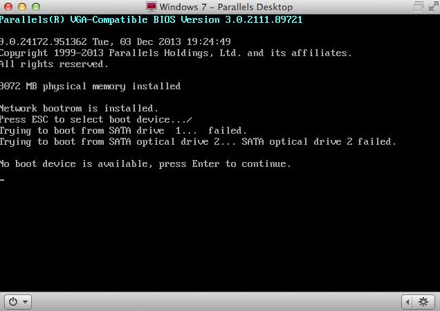 no bootable device error mac bootcamp