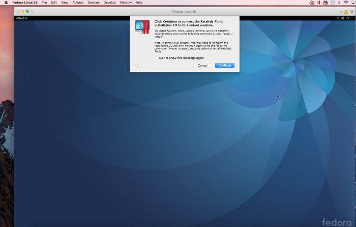 Installing Fedora Linux on your Mac using Parallels Desktop
