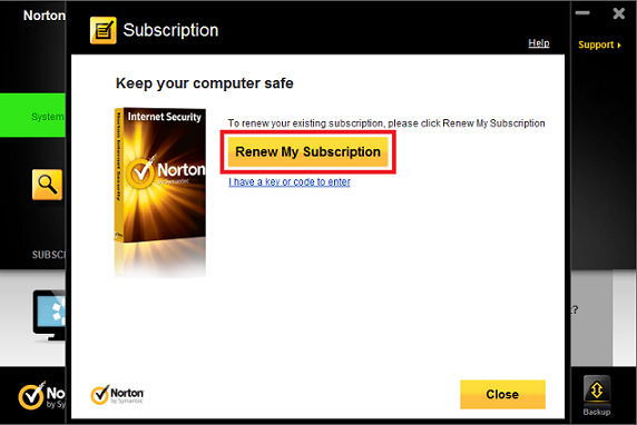 Once you have found the Norton renewal code, renew your Norton product by launching the Norton application, going to