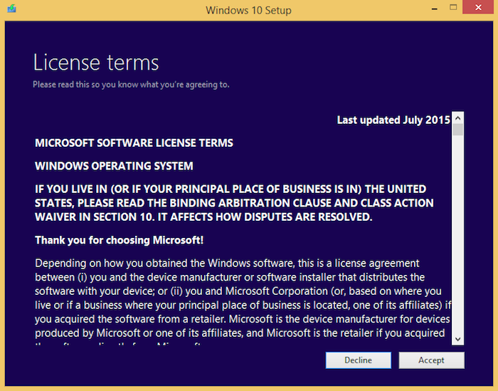 How to upgrade my virtual machine to Windows 10?