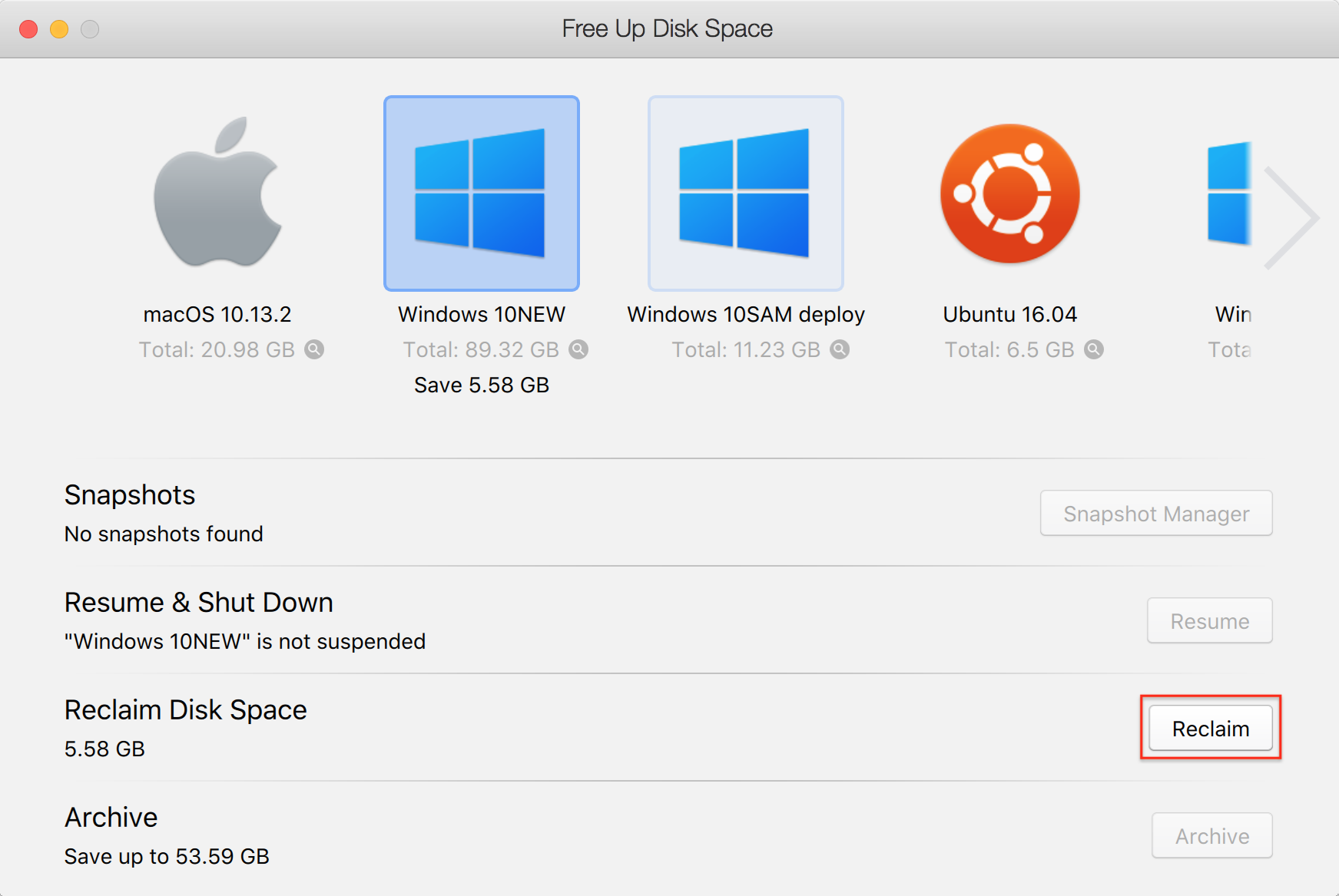 Free up disk space on Mac