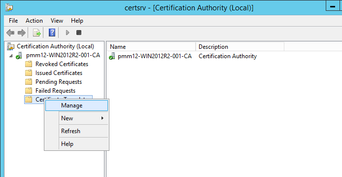 Kb parallels how to issue wsus certificate from local certificate in certificate authority console right click certificate templates manage yadclub Images