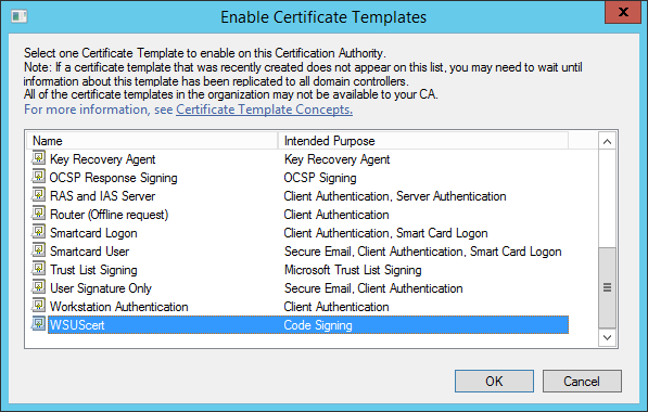 Kb parallels how to issue wsus certificate from local certificate locate created template and click ok yelopaper Gallery