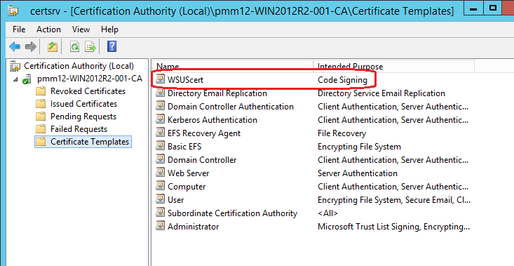 Kb parallels how to issue wsus certificate from local certificate locate created template and click ok yelopaper Choice Image