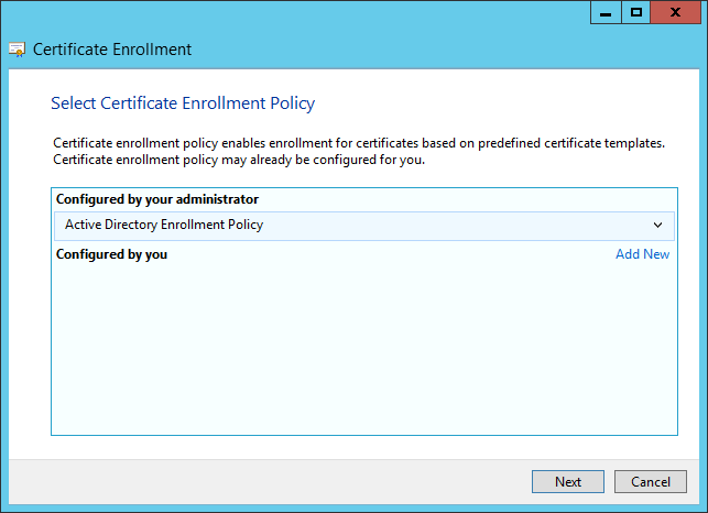 Kb parallels how to issue wsus certificate from local certificate at select certificate enrollment policy click next window yadclub Images
