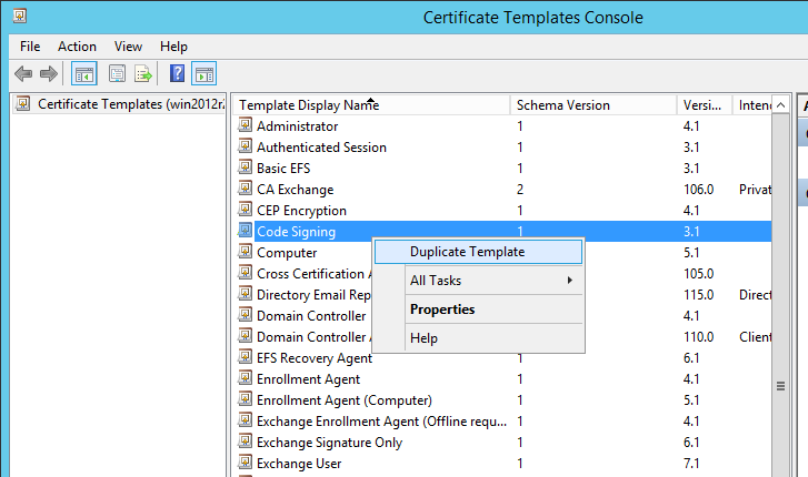 Kb parallels how to issue wsus certificate from local certificate in the opened certificate templates console right click code signing duplicate template yadclub Choice Image