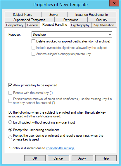 Kb parallels how to issue wsus certificate from local certificate check prompt the user during enrollment yelopaper Choice Image
