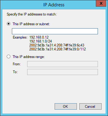 Specify IP addresses