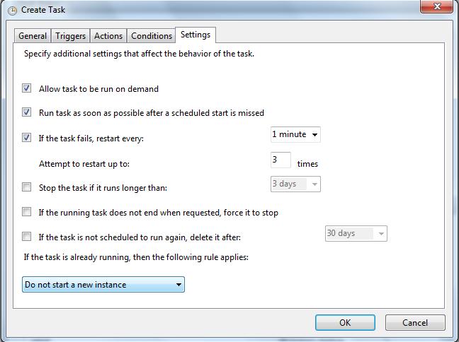 Final settings