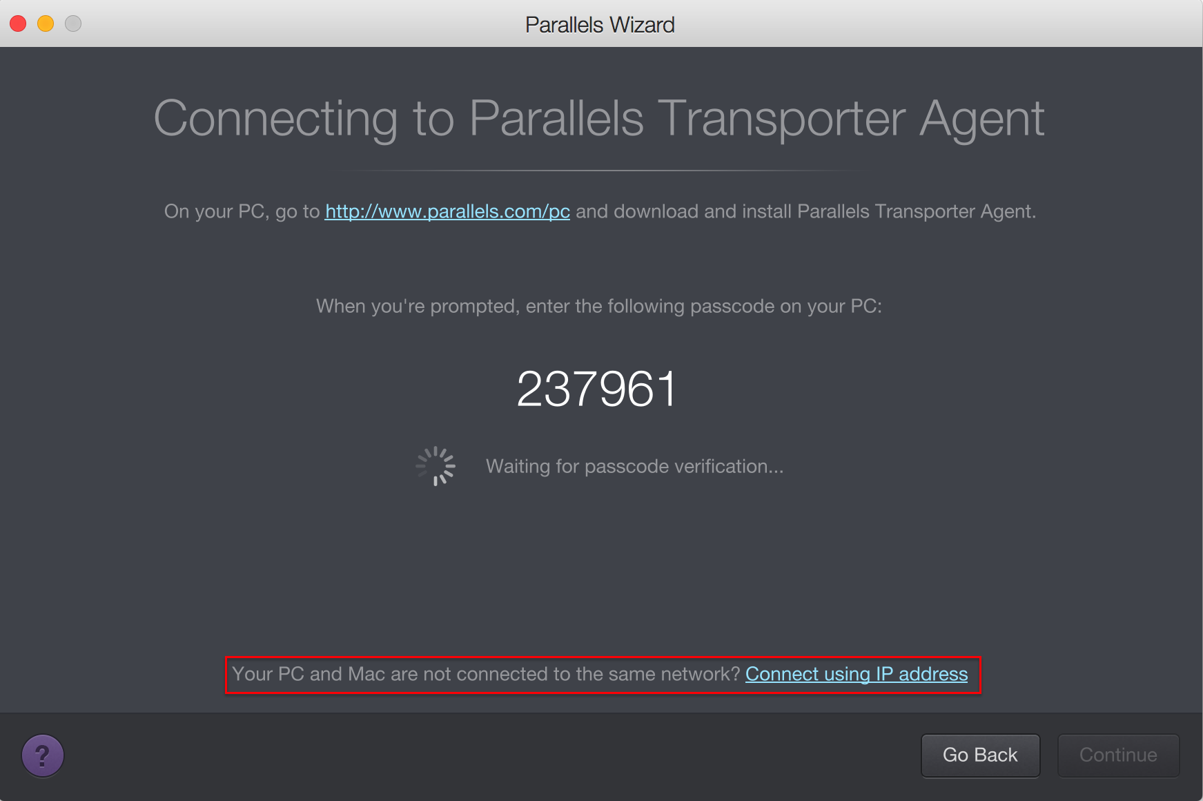 parallels pc to mac migration