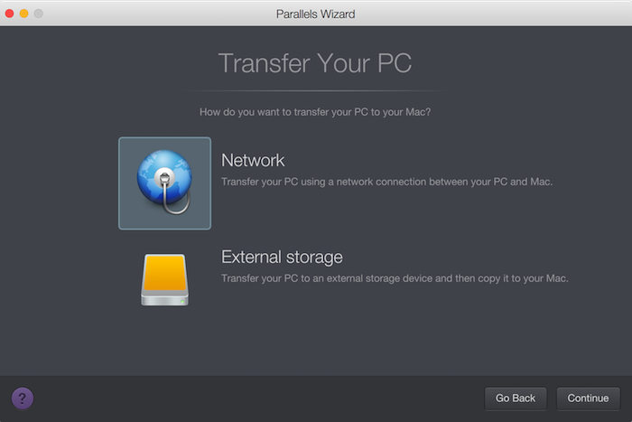 Migrating a PC to Mac using Parallels Desktop for Mac