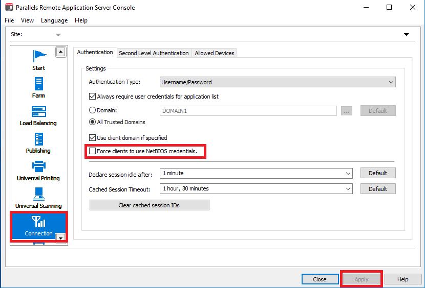 NetBIOS credentials