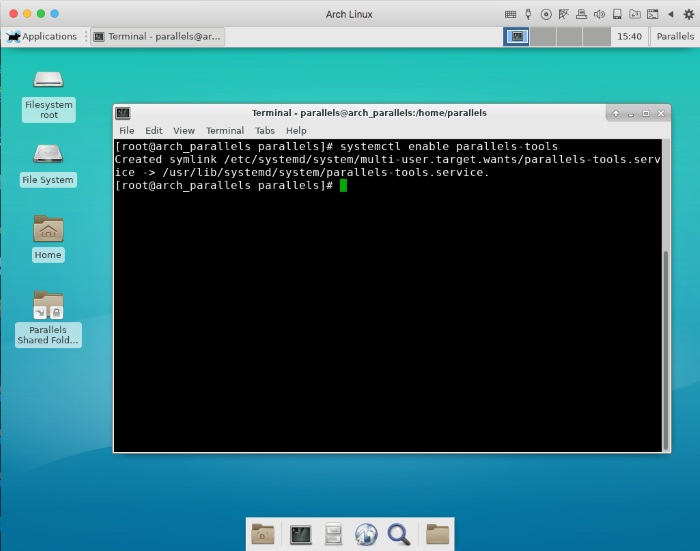Installing Arch Linux OS in Parallels Desktop