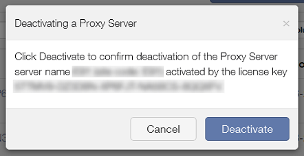 Deactivating a Parallels Mac Management proxy server