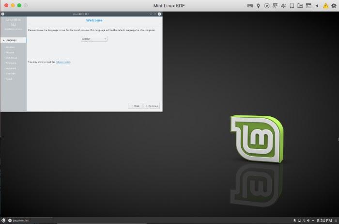Installing Linux Mint on your Mac using Parallels Desktop