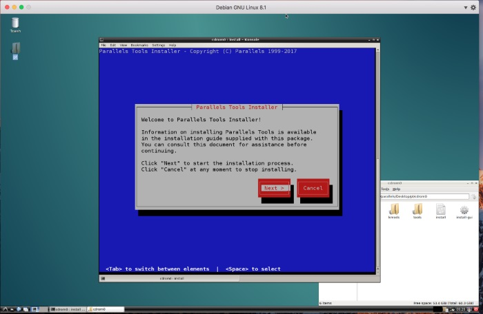 Installing Debian Linux on your Mac using Parallels Desktop