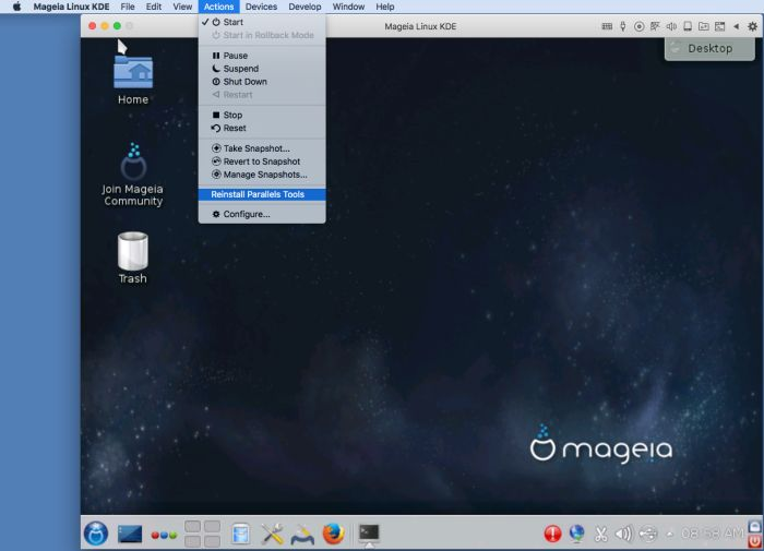 Installing Mageia Linux on your Mac using Parallels Desktop