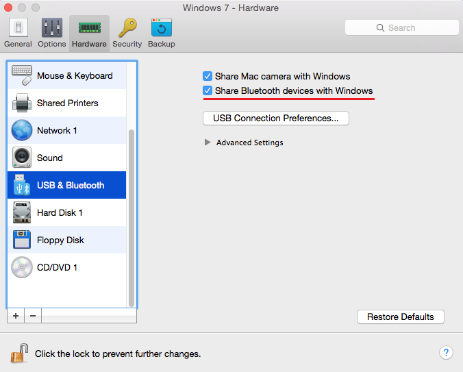 How to use Mac Bluetooth in virtual machine?