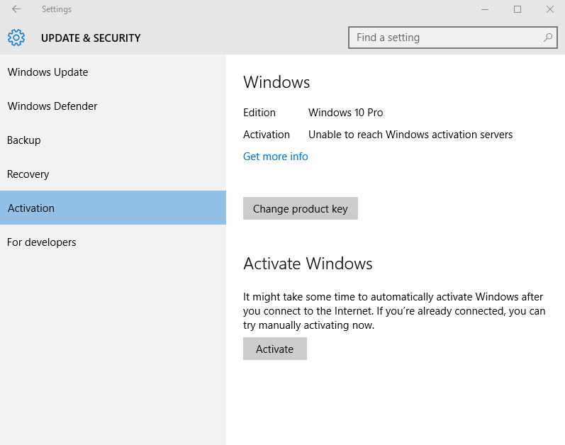 Activating Windows Virtual Machine installed from Boot Camp