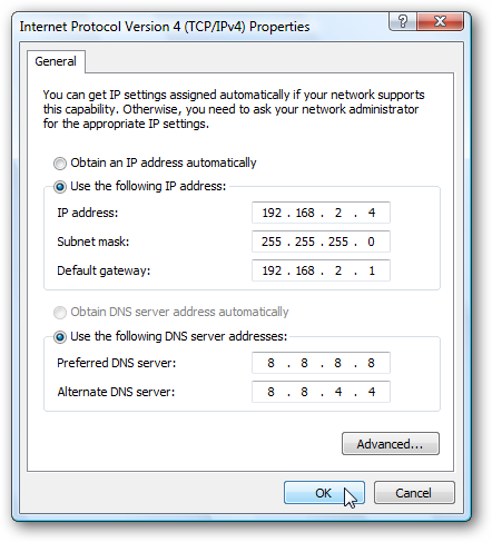 How to assign static IP address to a virtual machine