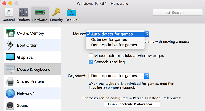 Mouse synchronization does not work between Mac OS and