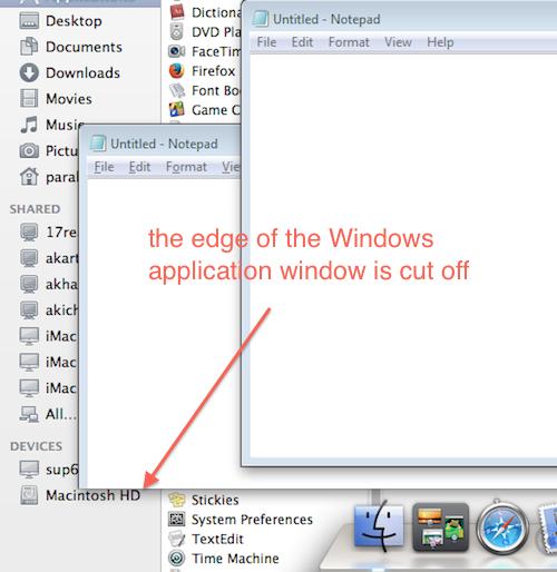 Kb parallels: windows taskbar is placed behind the mac dock in.