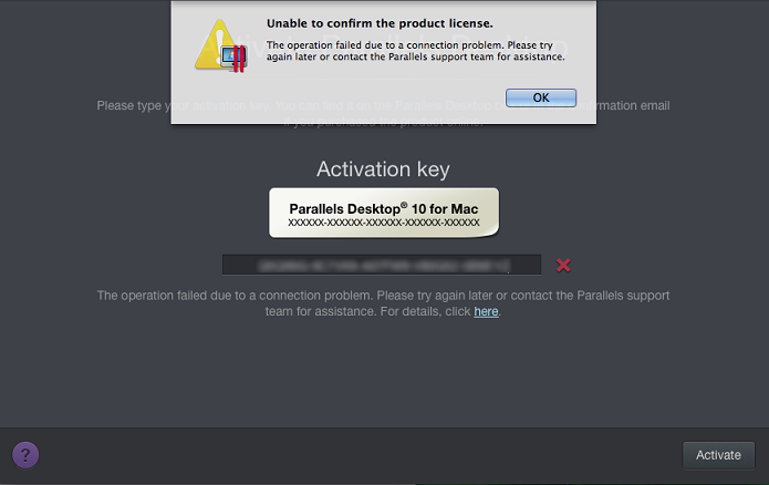 kb parallels unable to confirm the product license rh kb parallels com