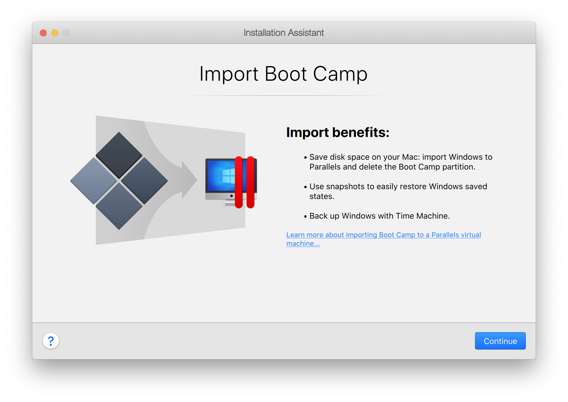 Import Boot Camp to another Mac or run it from an external