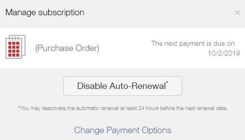 how to turn off auto renewal